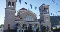Ιερατικές ακολουθίες στο ναό Αγίου Γεωργίου Βατώντα